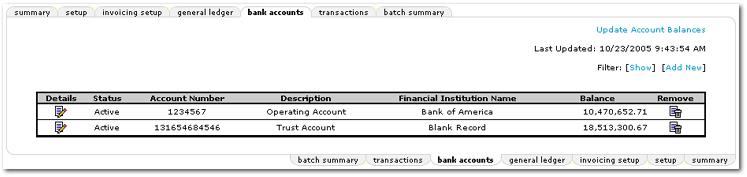 Bank Accounts