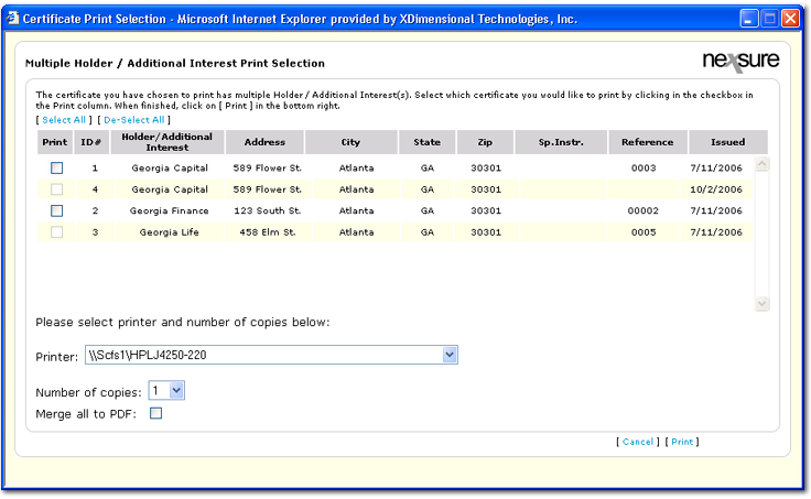 certificate batch printing