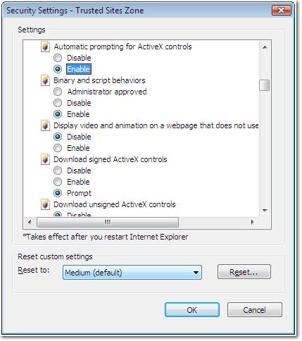 Preparing a Vista Workstation for Nexsure